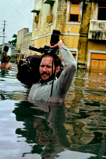 Steve in monsoon waters