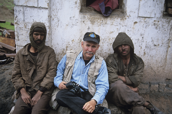 Steve  McCurry with Coal Miners, Pul I Khumri, Afghanistan, 2002