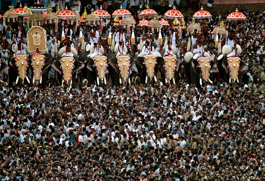 Thrissur India  City pictures : Thrissur Pooram, Kerala, India