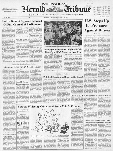 International Herald Tribune, 1980