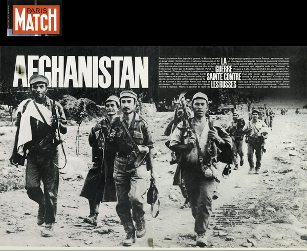 Paris Match, 1980. I made this photograph of government soldiers in Kunar Province.
