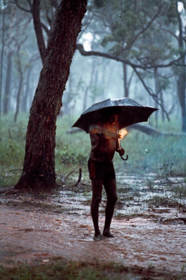 Fotos bajo la lluvia.