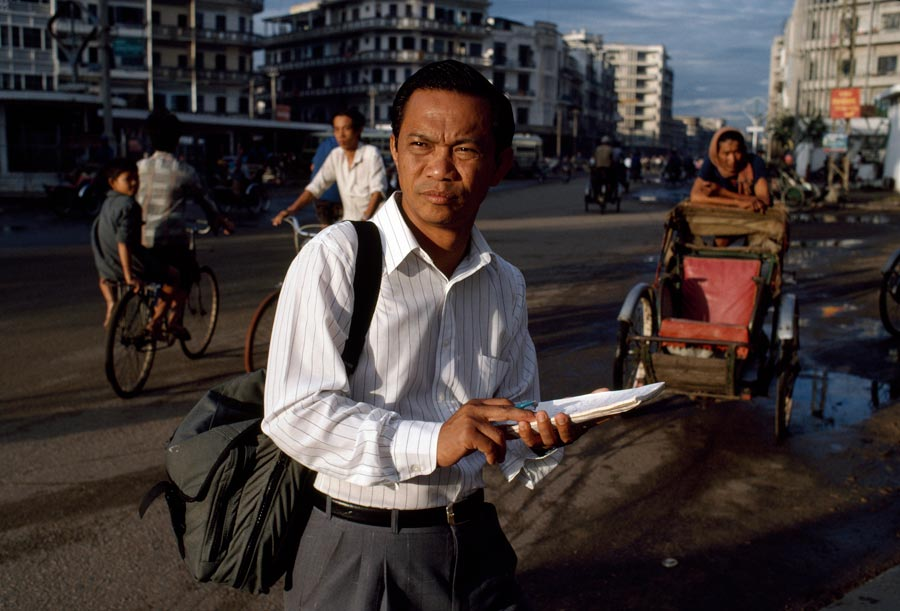 Dith Pran, survivor of Cambodia's killing fields, photojournalist, and author of Children of Cambodia's Killing Fields: Memoirs by Survivors