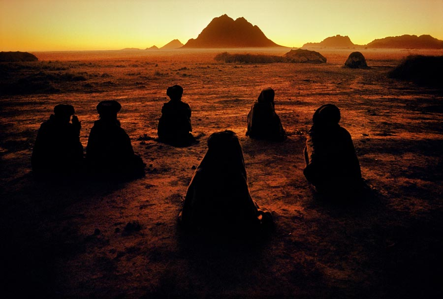 Kuchi Nomads Pray in Afghanistan