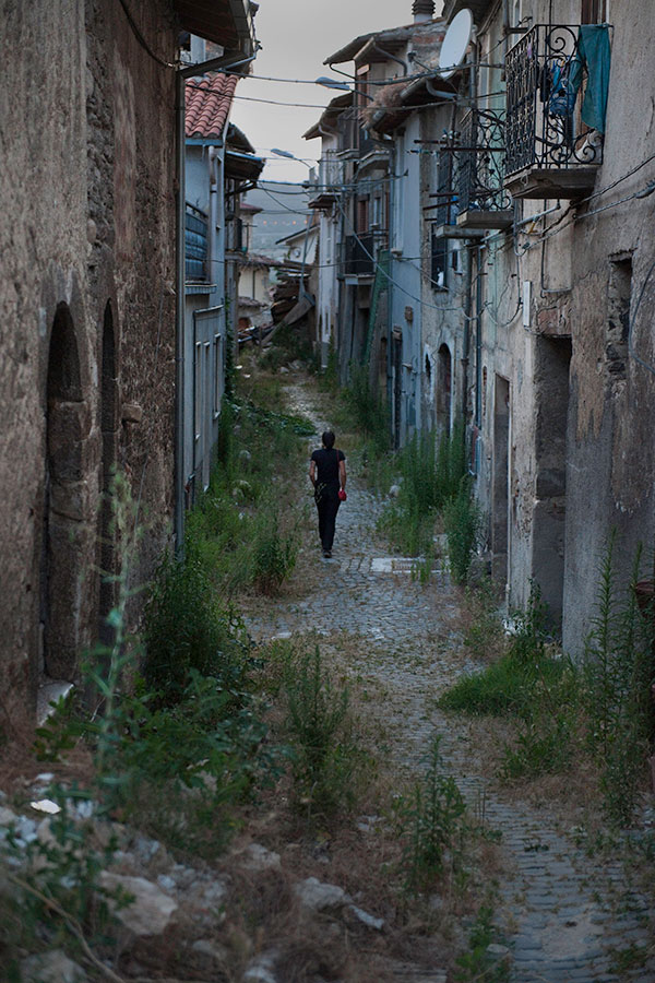 Three years after the earthquake, L'Aquila, Italy