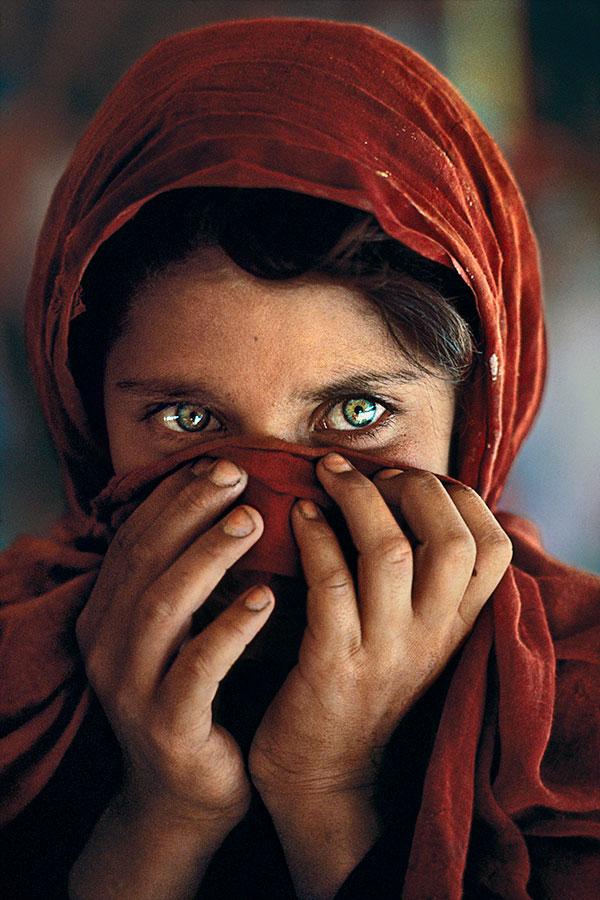 Sharbat Gula, Nasir Bagh Refugee Camp, Peshawar, Pakistan