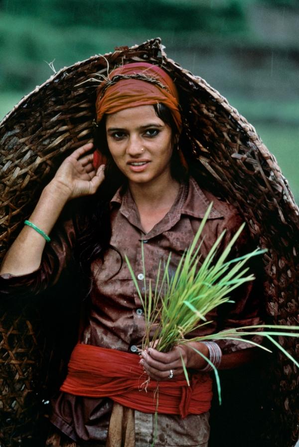 Phokhara, Nepal, 1984, NEPAL-10009Portraits_bookPORTRAITS_book