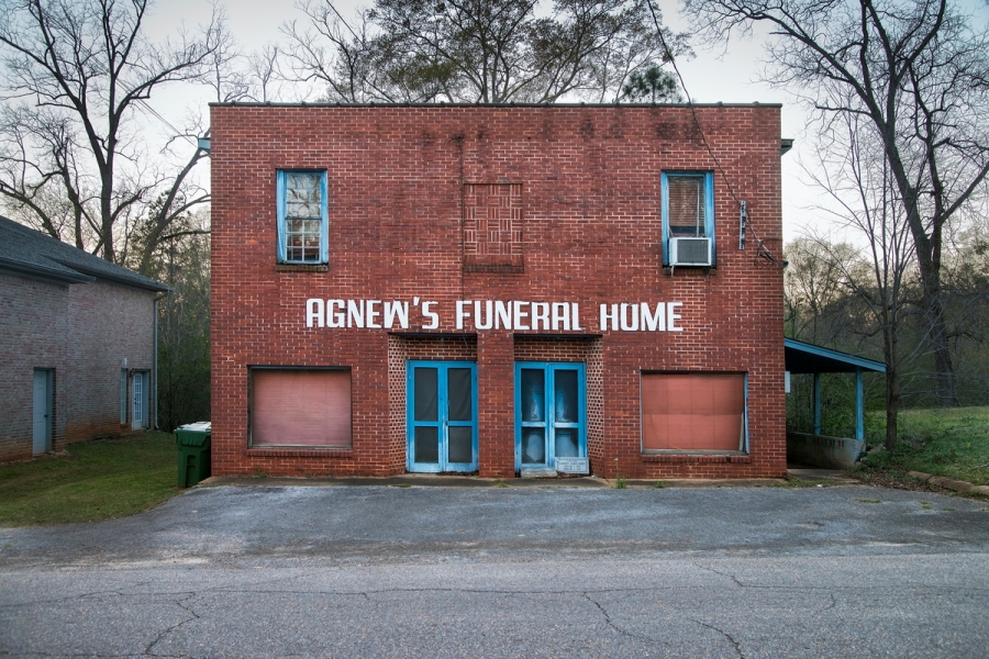 _DSC9436, Deep South, USA, 2013, USA-10793. A funeral home. retouched_Sonny Fabbri