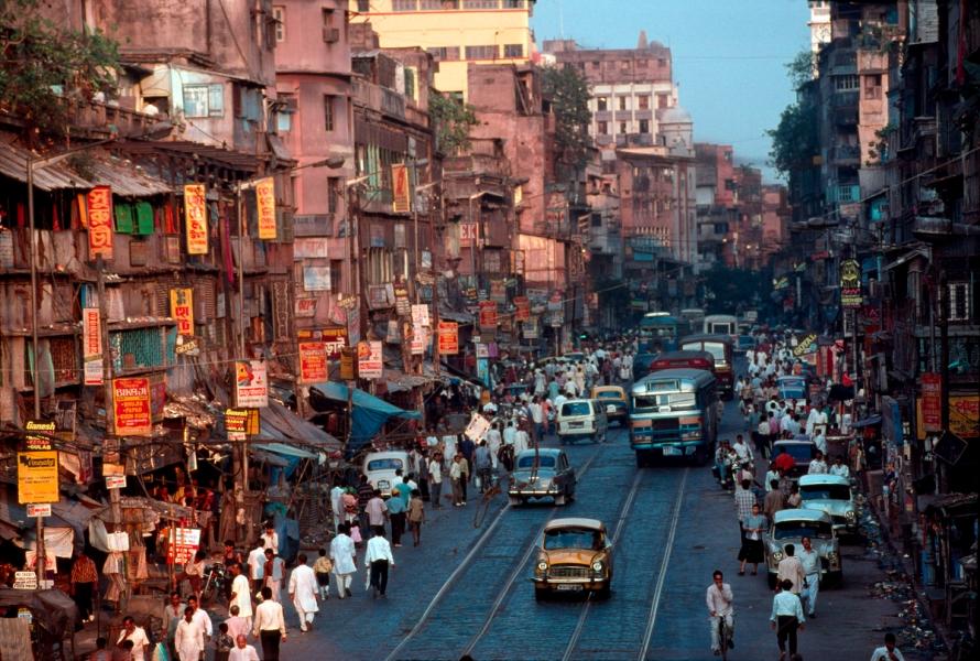 Street scene, Calcutta, India, 1996