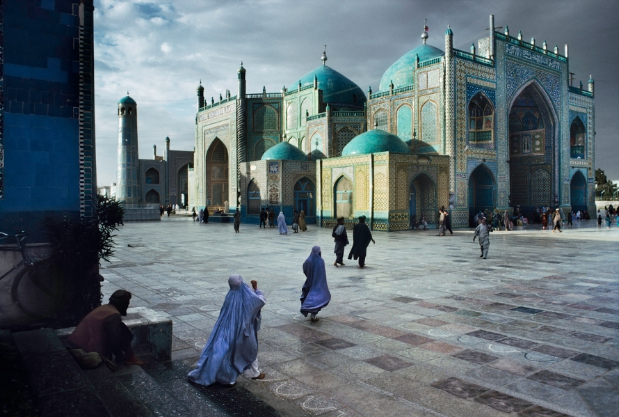 00214_06, Hazrat Ali Mosque, Mazar i Sharif, Afghanistan, 1992, AFGHN-10164NF7. Salat at Blue Mosque in Mazar-Sharif, Afghanistan, 1992. MAX PRINT SIZE: 30x40 Hazrat Ali Mosque final print_HERMITAGE final print_Zurich final print_Beetles and Huxley Fine Art Print retouched_Sonny Fabbri 05/28/2014