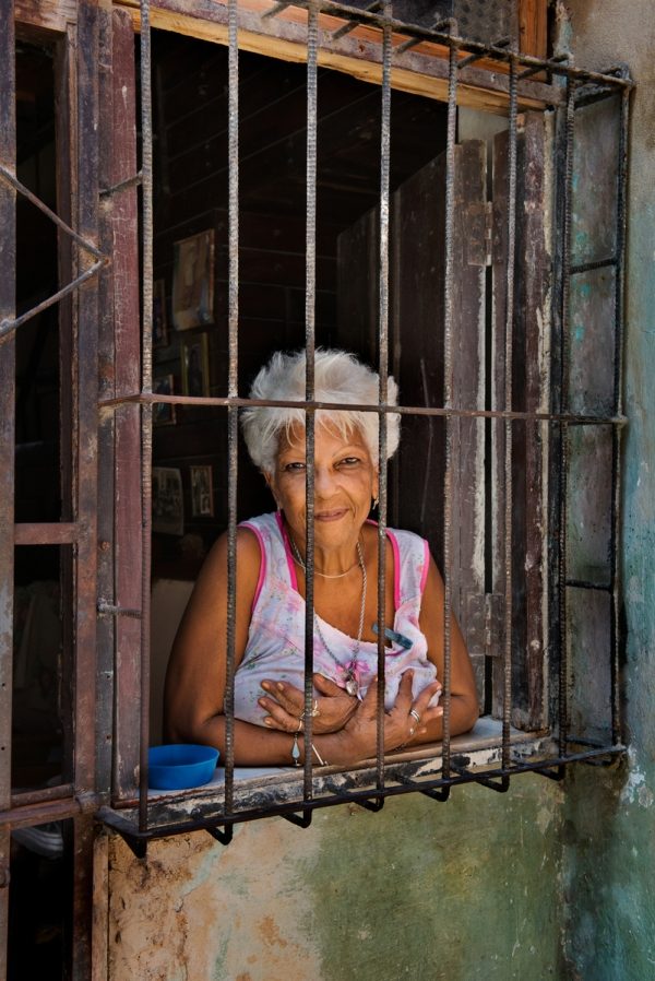 _DSC8828, Havana, Cuba, 07/17/2015, CUBA-10303. Portrait of old woman looking out of window. retouched_Ekaterina Savtsova 07/29/2015 SENDING TO MAGNUM