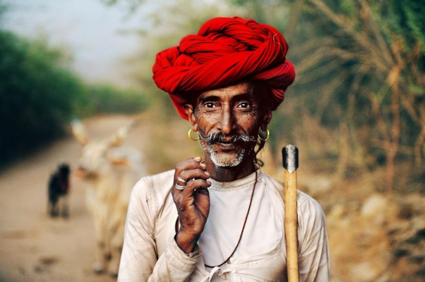 Rabari Shepherd, Rajasthan, India, 2009