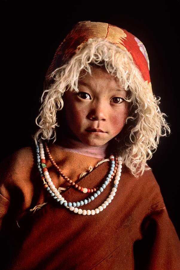 Young pilgrim child, Lhasa, Tibet, 2001